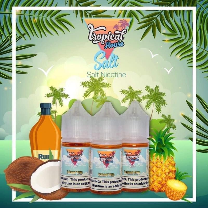 Dứa Dừa Rượu Rum Lạnh - Island Trip - Tropical House 30mg/30ml SALT