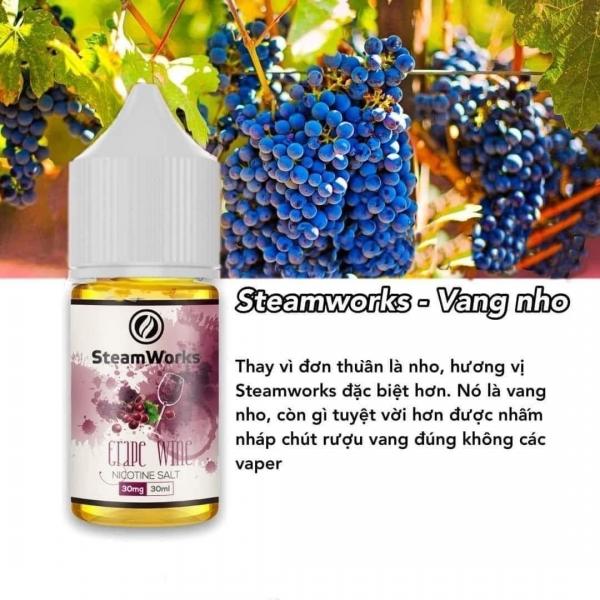 Rượu Vang Nho Lạnh - Steamwork Grape Wine 30ml/30mg