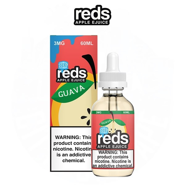 Táo ổi lạnh - Guava Iced Reds Apple (60ml/3mg)